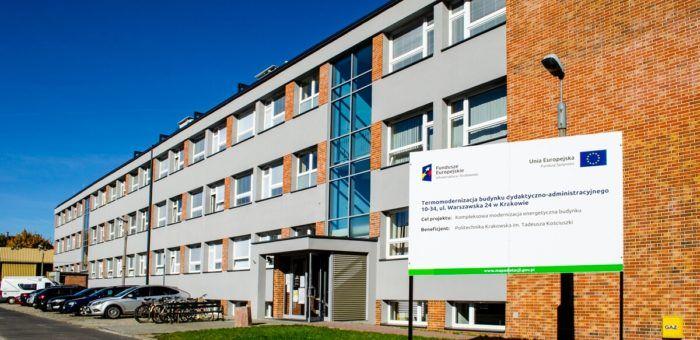 Termomodernizacja budynku dydaktyczno – administracyjnego W-15 (10-34) HOUSTON Politechniki Krakowskiej
